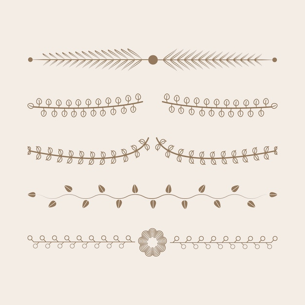 Ornaments collection vector design concept Free Vector