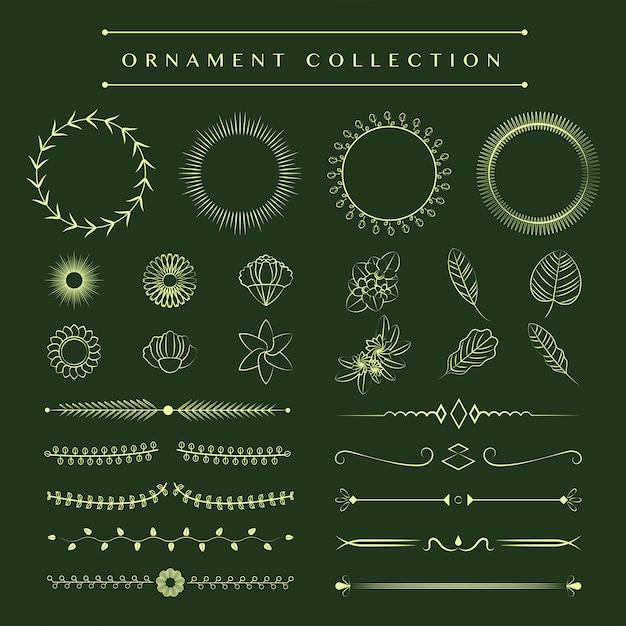 Ornaments collection vector design concept Free Vector
