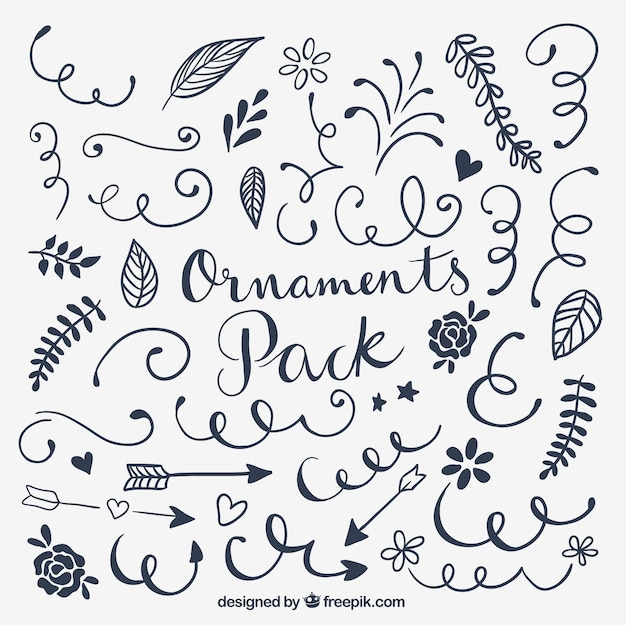 Ornaments pack Free Vector
