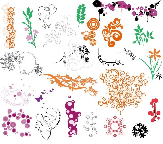 ornaments vector collection Free Vector