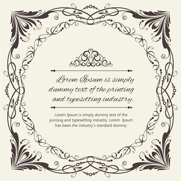 Ornate frame. Vector | Free Download