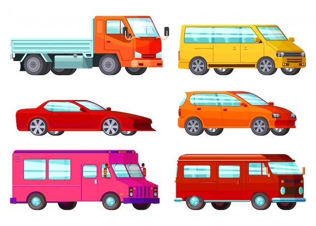 Orthogonal car set Free Vector