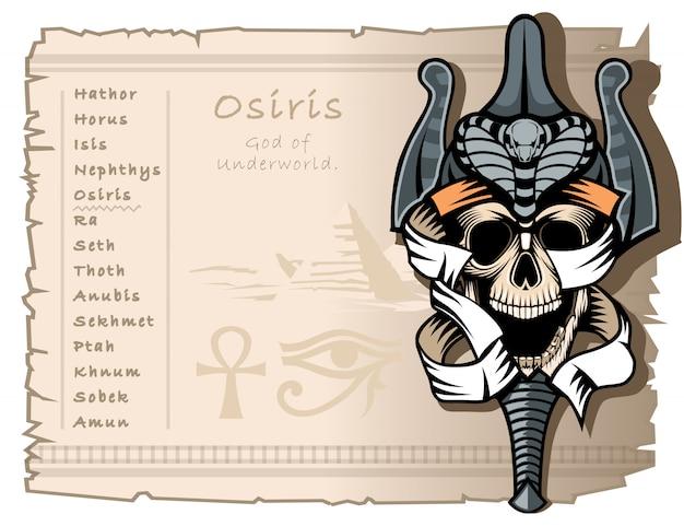 Osiris, the god of the underworld Premium Vector