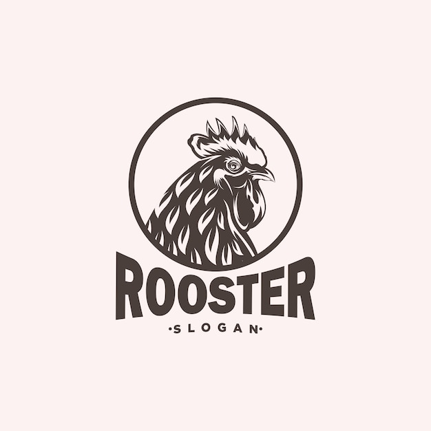 Oster頭のロゴの設計図 Premiumベクター