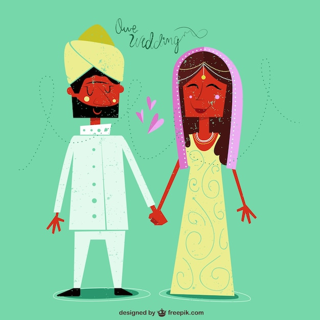 Our indian wedding Vector | Free Download