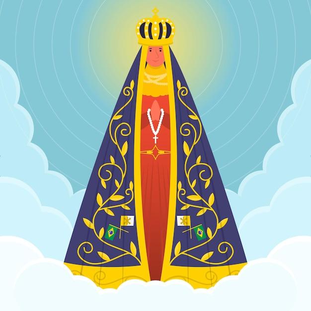 空のアパレシーダの聖母 無料ベクター