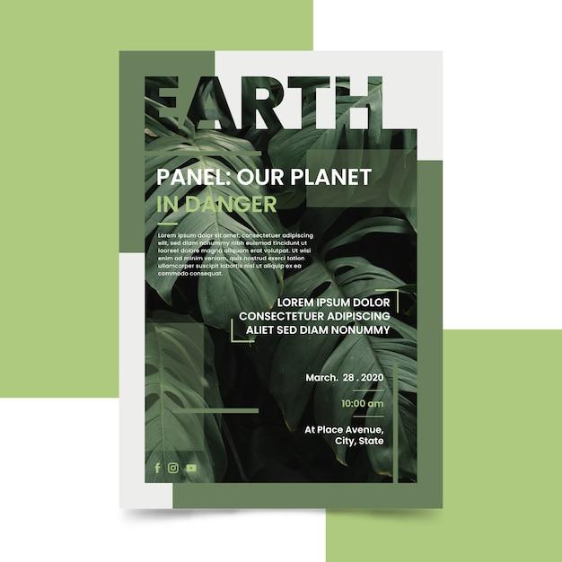 Il nostro pianeta è in pericolo poster Vettore gratuito