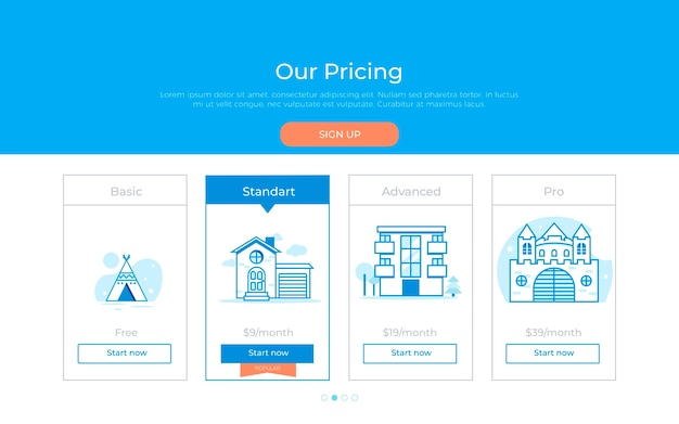 Our price plan Free Vector