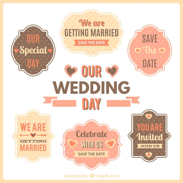 Our wedding day vintage labels