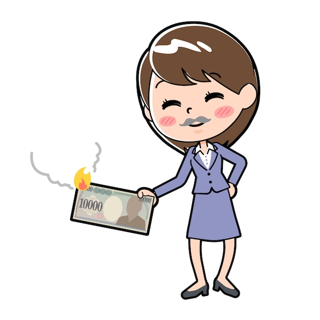 Out Line Business Woman Satire Picture Vector Premium Download