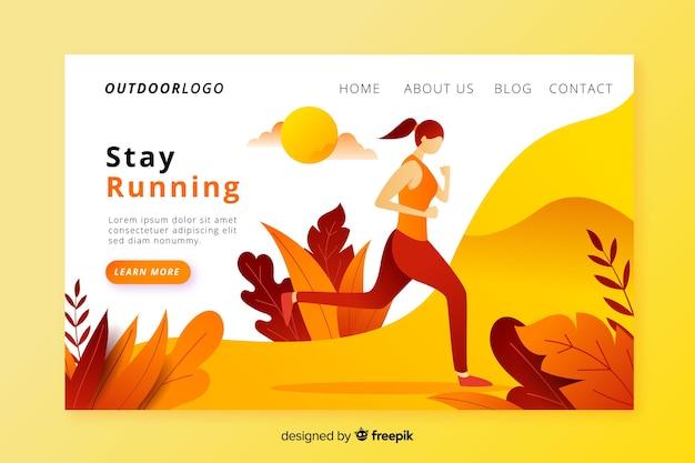 Outdoor activities landing page Free Vector