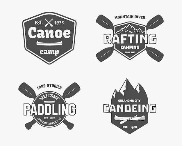Outdoor adventure badges Premium Vector