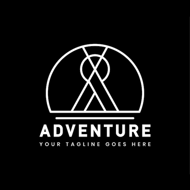 Outdoor adventure logo badge template Free Vector