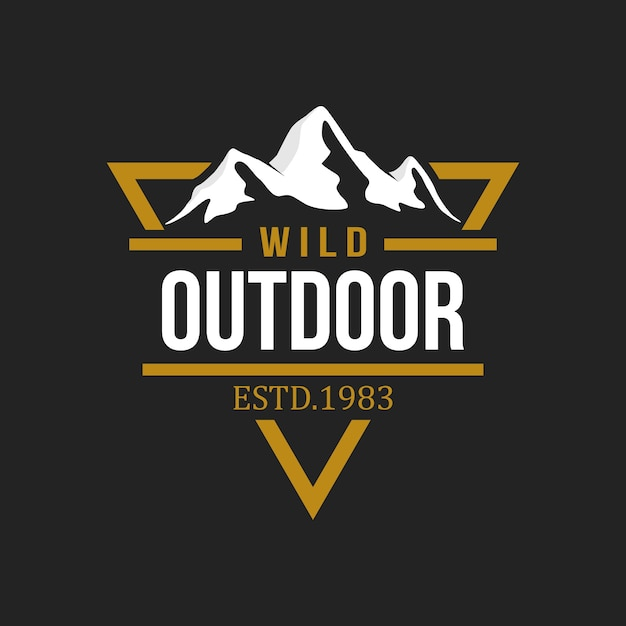 Outdoor and adventure logo design template Premium Vector
