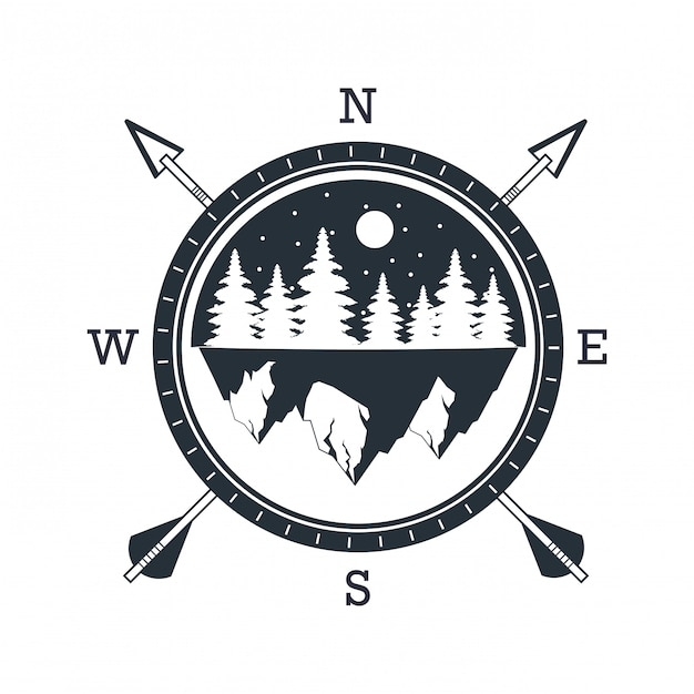 Outdoor adventure logo Premium Vector