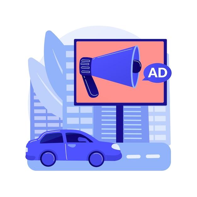 옥외 광고 디자인 추상적 인 개념 무료 벡터