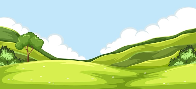 Outdoor green nature background Free Vector