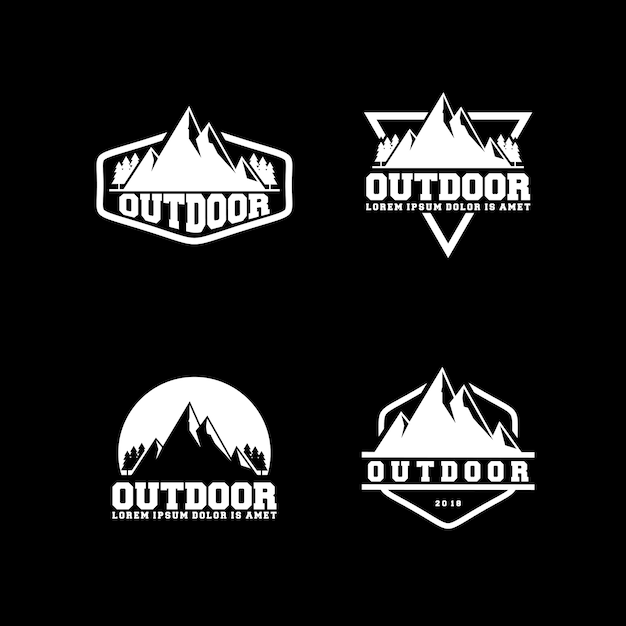 outdoor logo design template vector premium download