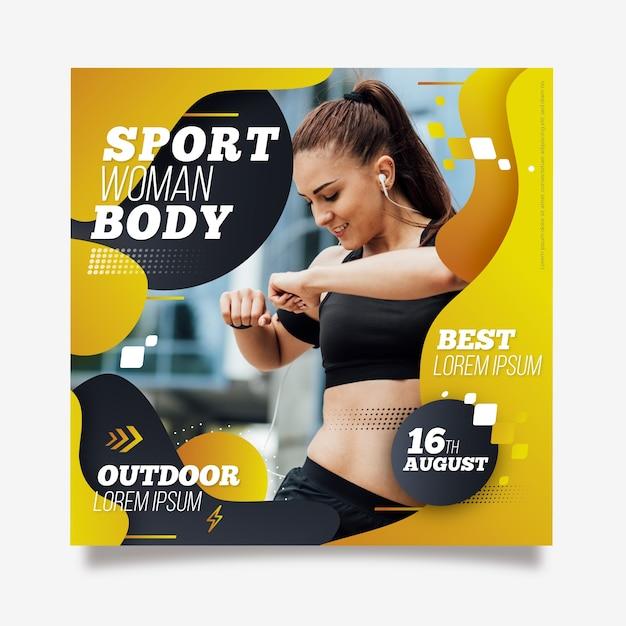 Outdoor sport flyer template Free Vector