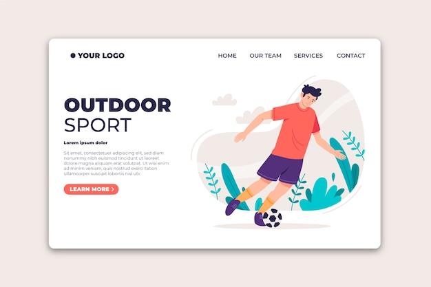 Outdoor sport landing page Free Vector