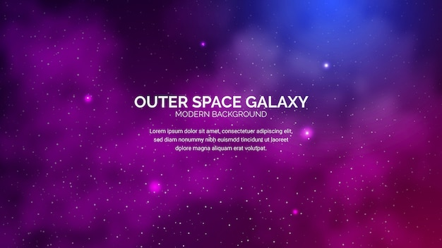 Outer space galaxy background Premium Vector