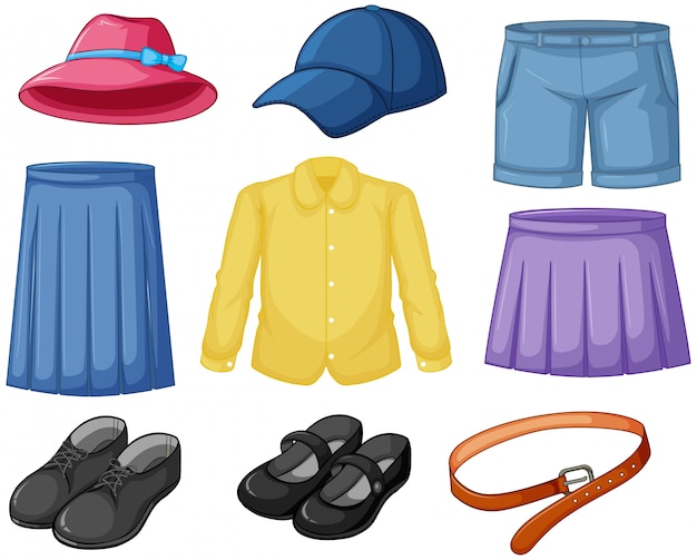 Outfits to wear elements Free Vector