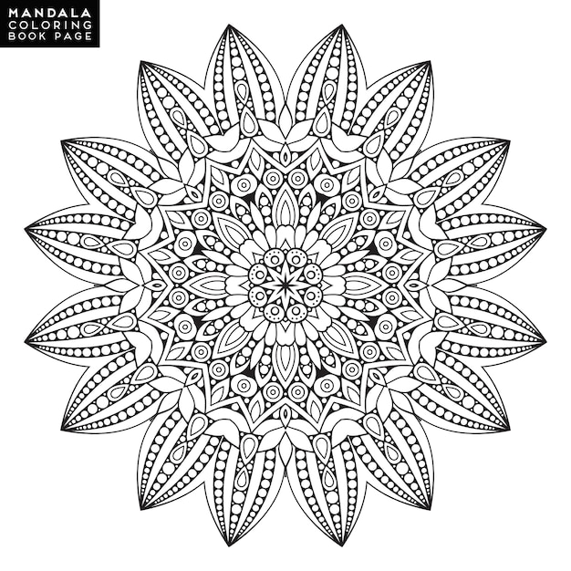 Outline Mandala for coloring book. Decorative round ornament. Anti ...