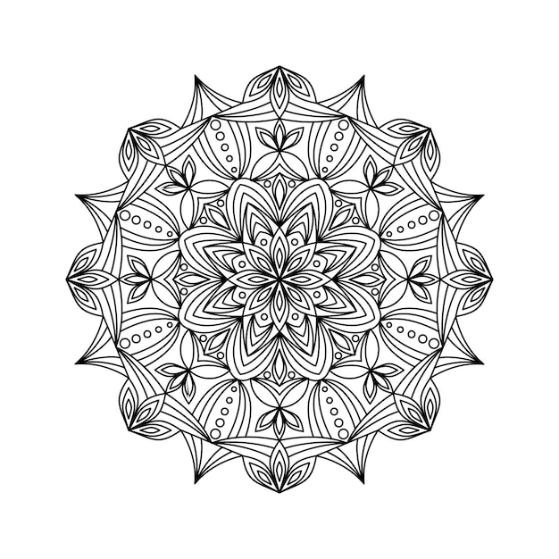 Outline mandala vector illustration Premium Vector