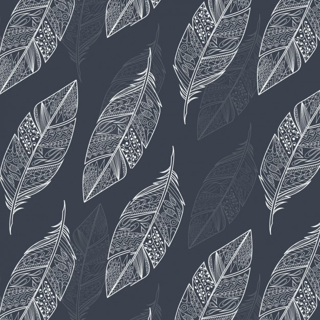 outlined feathers background design vector free download