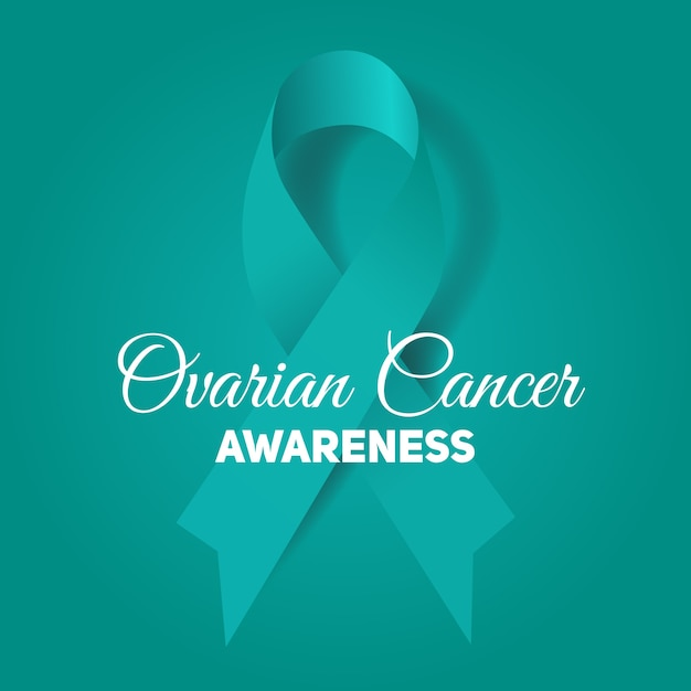 Premium Vector Ovarian Cancer Awareness Ribbon