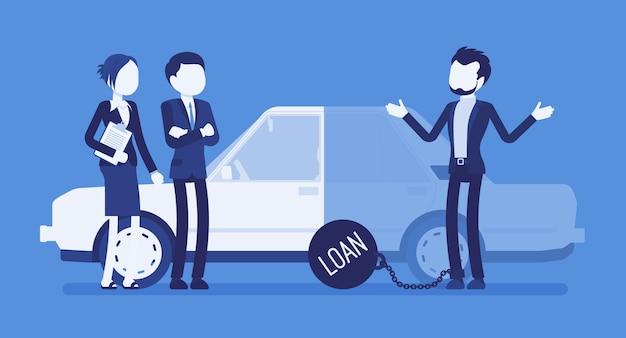 Overdue car loan Premium Vector