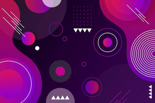 Overlapping forms purple toned background Free Vector
