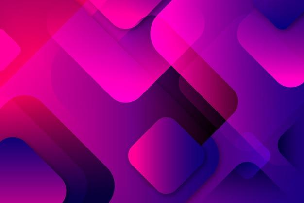 Перекрытие градиента фиолетовых форм фона Бесплатные векторы