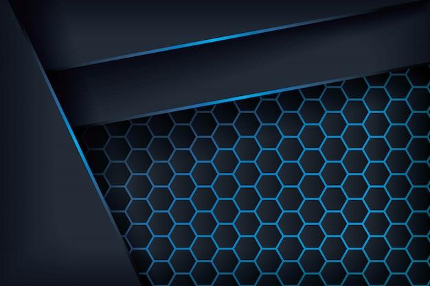 Overlapping hexagon paper. Premium Vector