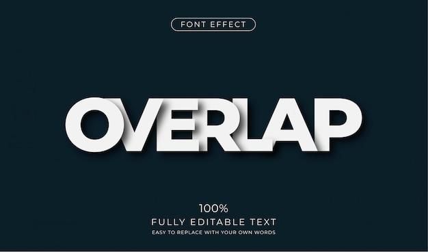 Перекрывающийся текстовый эффект. редактируемый стиль шрифта Premium векторы