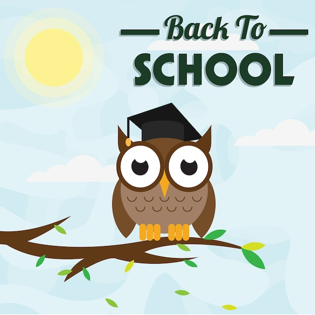Owl back to school Premium Vector