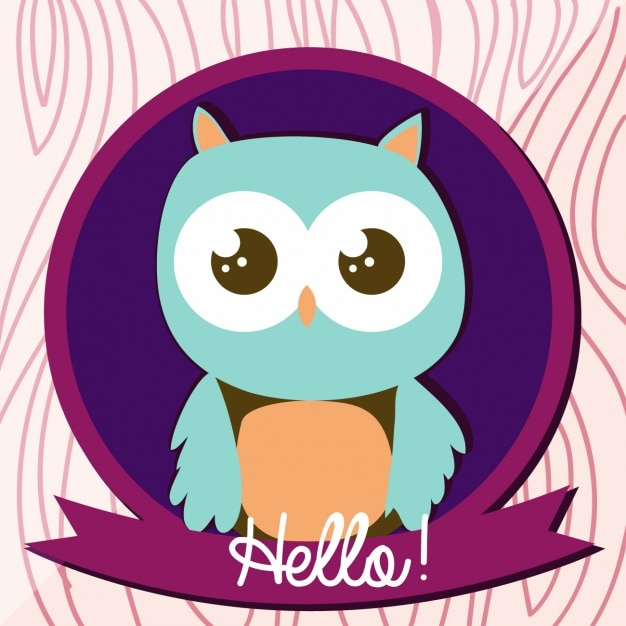 Owl background design Free Vector