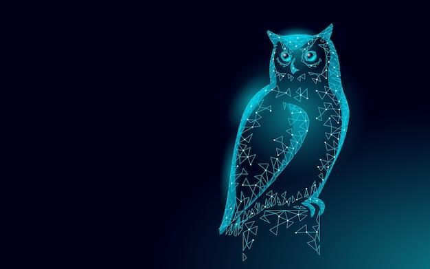 Сова птица символ мудрого образования. концепция дистанционного электронного обучения. выпускной Premium векторы