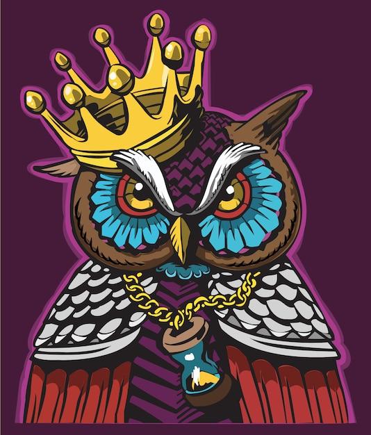 Owl character graffiti design Premium Vector