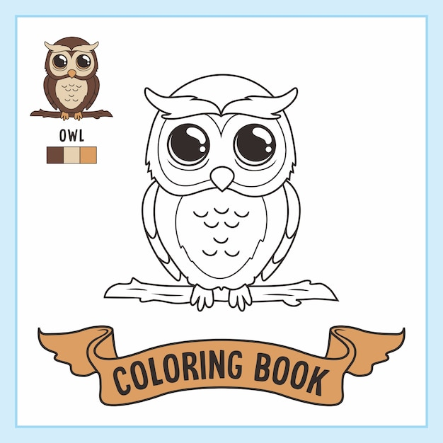 Premium Vector Owl Coloring Pages Book Animals