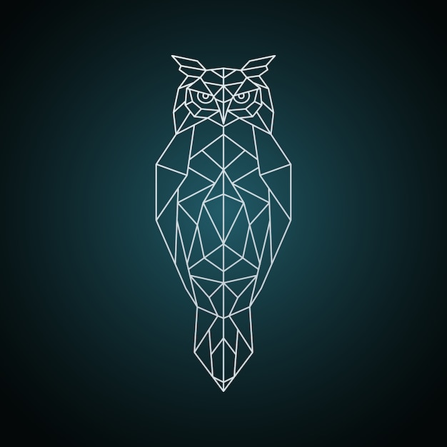 Owl in geometric style. Premium Vector