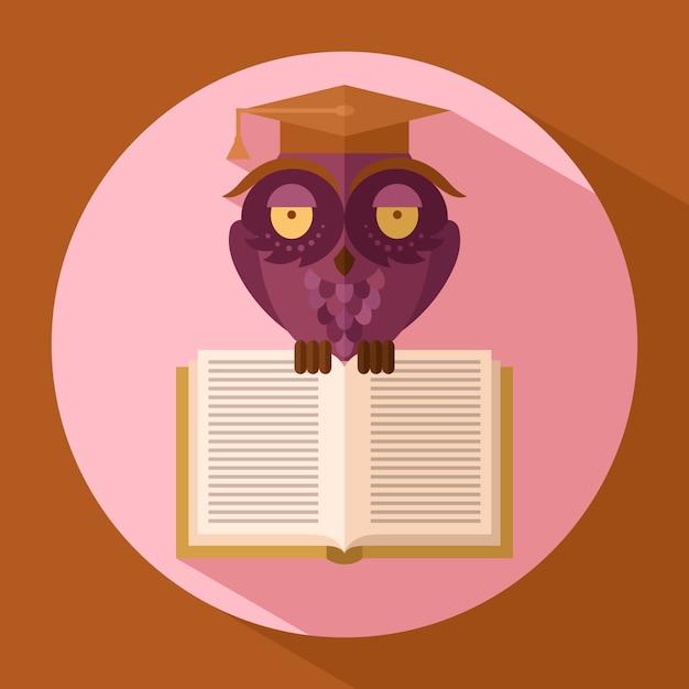 Owl in graduation cap Premium Vector