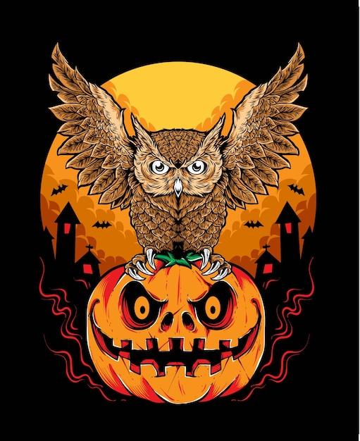 Owl halloween vector Premium Vector