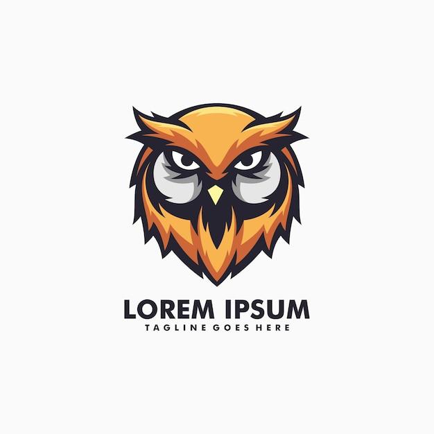 Owl illustration logo vector Premium Vector
