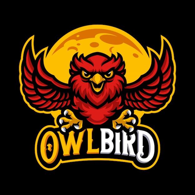 Owl mascot logo vector template Premium Vector