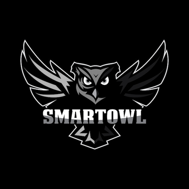 Owl mascot logo Premium Vector