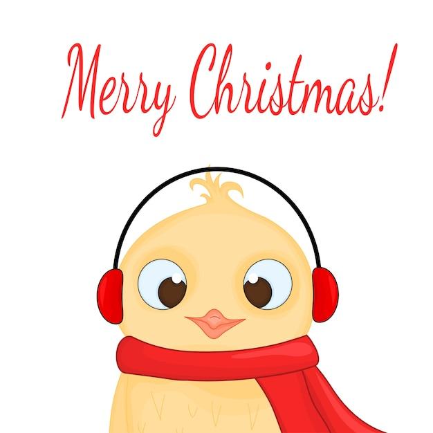 Owl in the santa claus hat Premium Vector