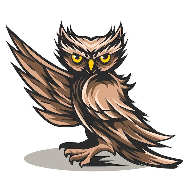 Owl say hi vector illustration design isolated on white Premium Vector