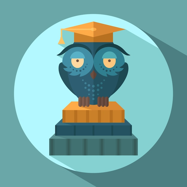 Owls in graduation cap Premium Vector