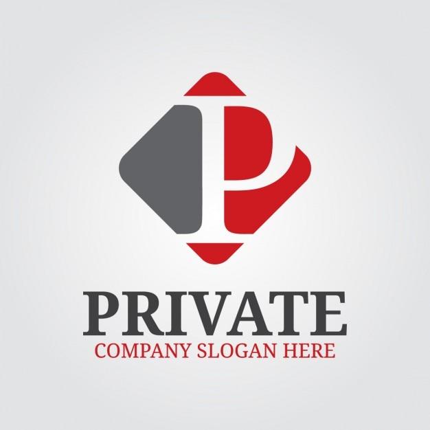 Профессиональный письмо p логотип Бесплатные векторы